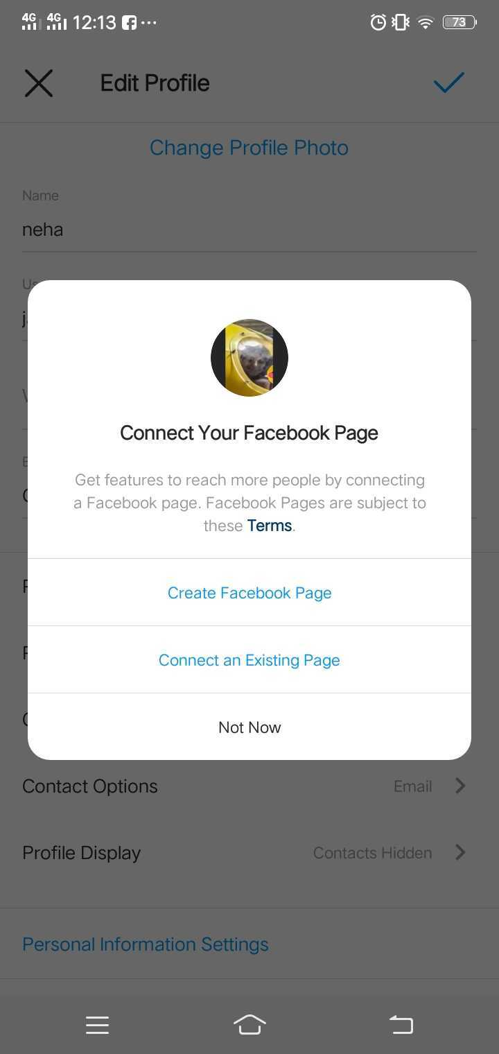 Connect your facebook