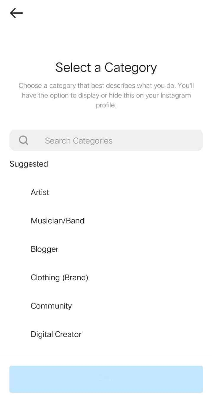 Select a Category