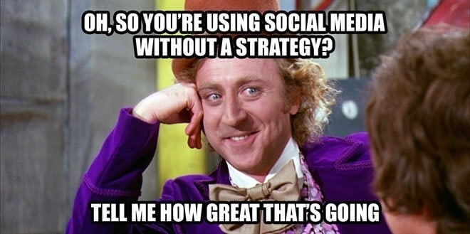 social media without a strategy