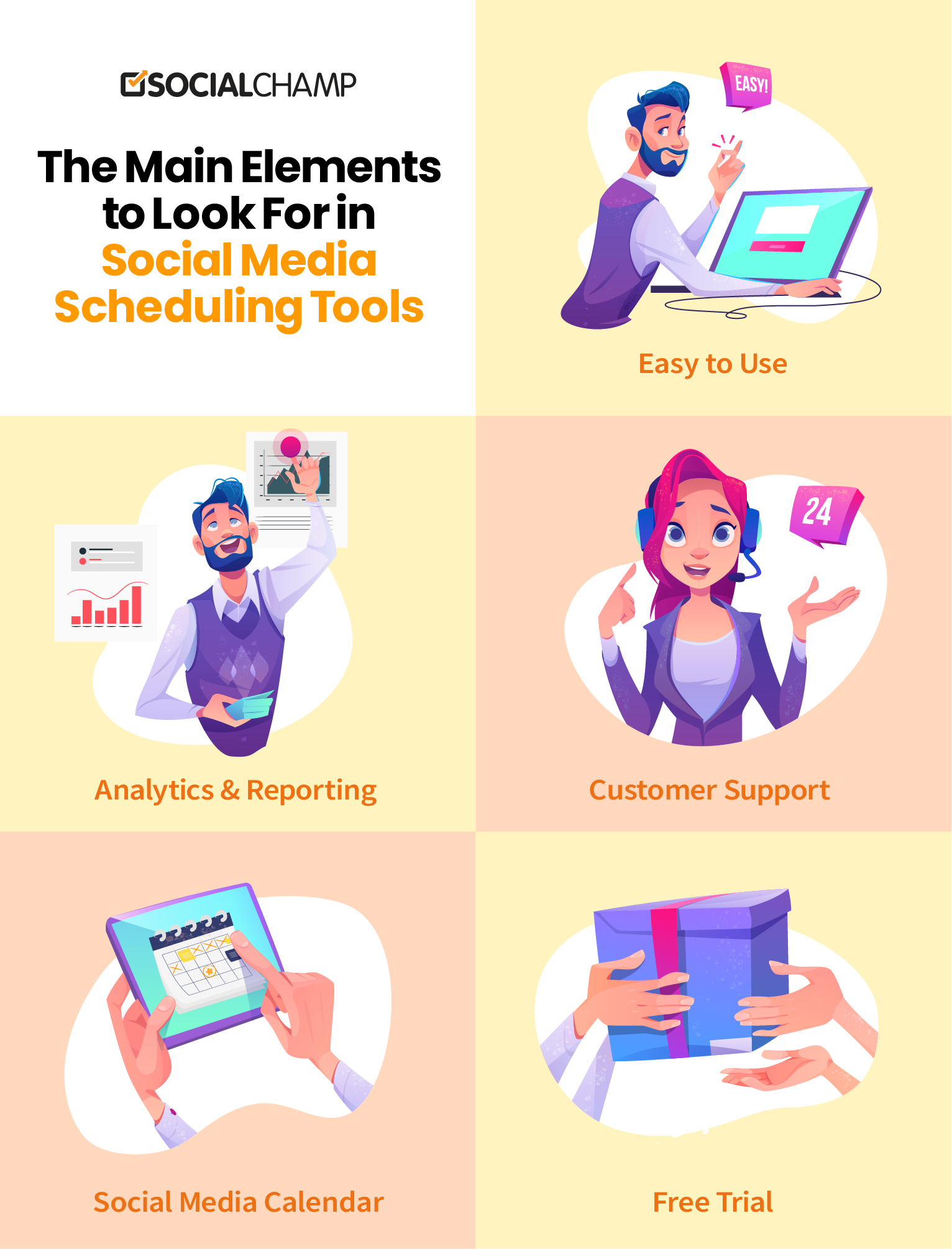 Main Elements To Look For In Social Media Scheduling Tools