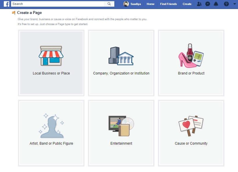 Facebook Business Page