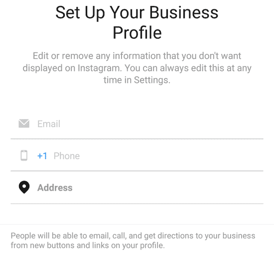 set your business profile