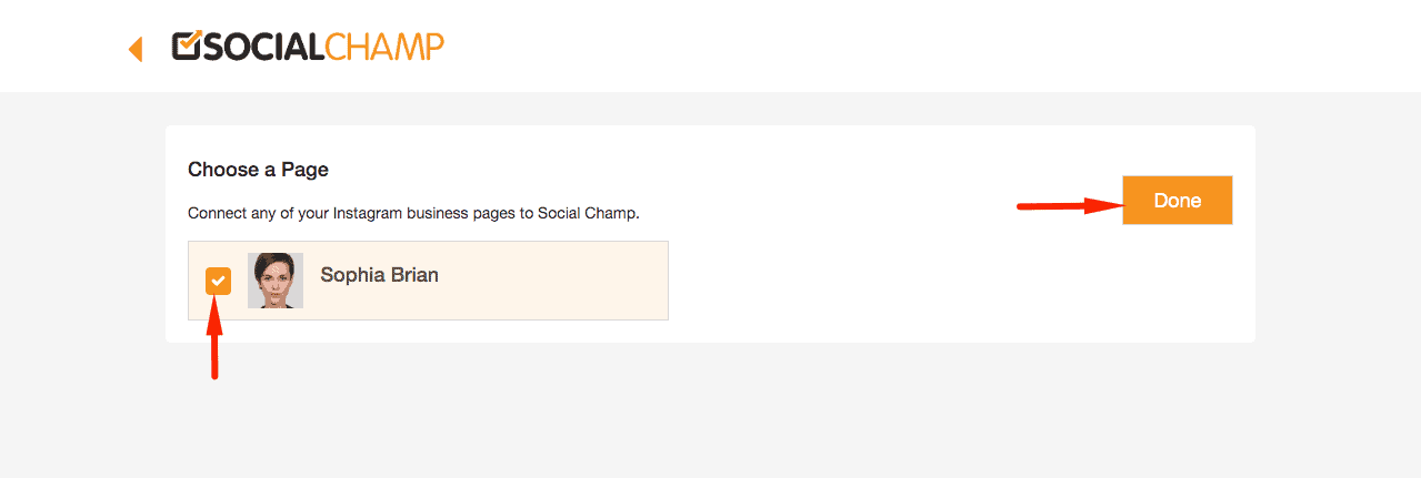 social-champ page connect option