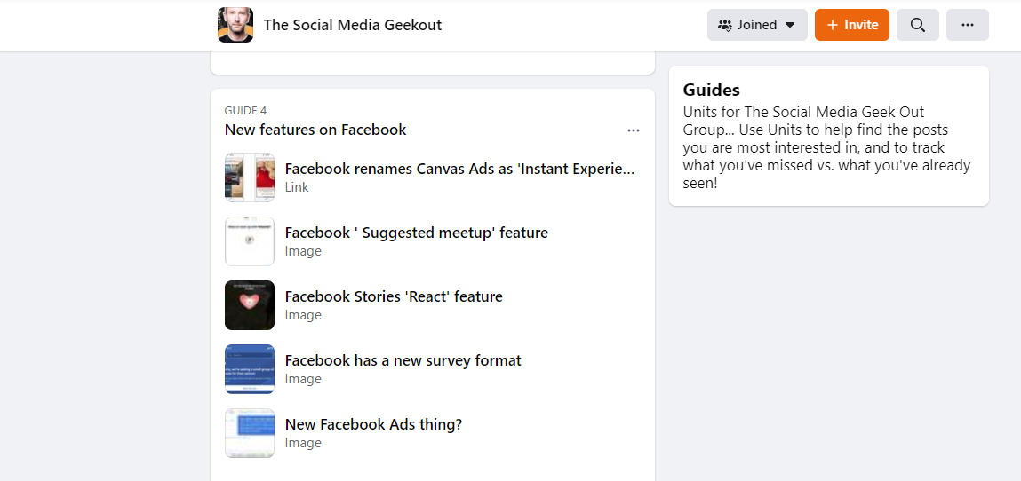 Facebook Groups- Use Guides