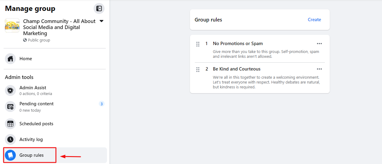 Define Group Rules