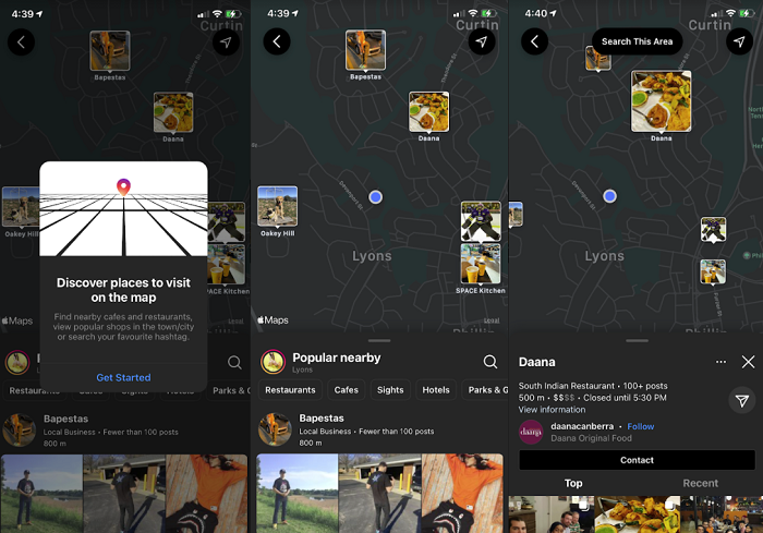 New Map Search Tool Within Instagram